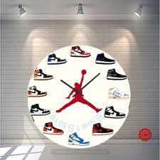 "New Handcrafted 12"" 2D Jordan 1 Sneakers clock quartz nike supreme off white yzy"