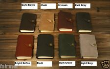 6X4 Handmade Vintage Retro Custom Leather Button Travel Journal Diary Note Book