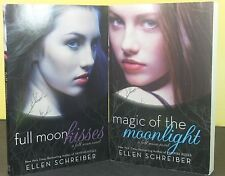 LOT OF 2) Full Moon Kisses & Magic Of The Moonlight by Schreiber (Paperback) NEW