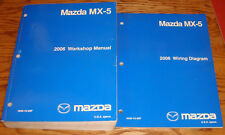 Original 2006 Mazda MX-5 Miata Shop Service Manual + Wiring Diagram Set 06