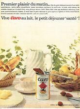 """PUBLICITE ADVERTISING 085  1962  CARO  au lait petit déjeuner  """"SANTE"""""""