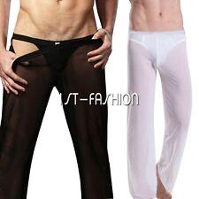 Sexy Homme Sous-vêtement Leggings Pantalons Caleçons Longue Lingerie Transparent