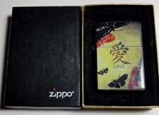 ZIPPO Lighter Black LOVE BUTTERFLY-L 04/2004-NEW OLD STOCK-COMPLETE
