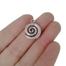 10 x Tibetan Silver Spiral Swirl Charms Pendants Beads for Jewellery Making