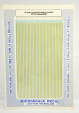 MICROSCALE PS-8-1/64 DULUX GOLD PARALLEL STRIPES DECAL  DF