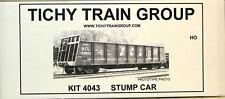 NIB HO Tichy #4043 40' Bulkhead Flatcar Stump Car Conversion Undecorated Kit