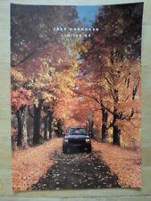 JEEP CHEROKEE LIMITATO se 1991-92 UK Mkt opuscolo vendite lucida