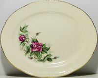 Vintage Homer Laughlin® Rose-Patterned Serving Platter # H51 N6