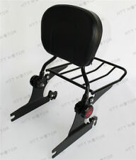 Backrest Sissy Bar w/ Luggage Rack For Harley Softail Deluxe 2005 UP Black