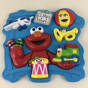 Sesame Street Elmo's World Preschool Chunky Piece Puzzle Vintage 2001 Mattel Toy