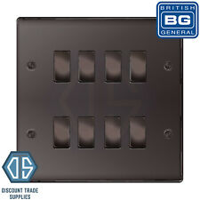 BG Black Nickel 8 Gang Light Switch 2 Way Custom Grid Switch Back Box Included