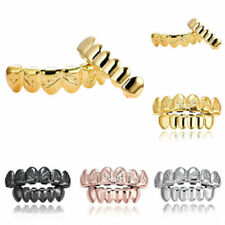 Hip Hop Teeth Grillz Set Unisex Top Bottom Mouth Teeth Grills Tooth Caps Cool