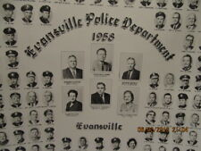Original Photo 1958 Evansville IN Police Department 11X13 B&W Chief & Personnel