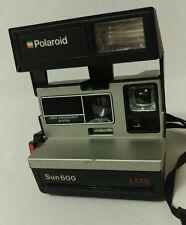 Vintage Polaroid Camera Sun 600 Light Management System LMS Rainbow Logo Working