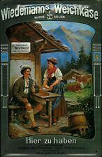 panneau métallique Wiedemann plaque Alpen FROMAGE VACHE CHALET plaque 20x30 Berg