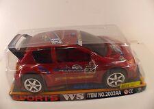 Wind speed sports Peugeot 206 friction powered plastique 1/10 neuf jamais joué