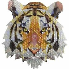TIGER - FRACTAL - EMBROIDERED PATCH - BRAND NEW - ANIMAL 4647
