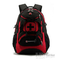 "SWISS Backpack ScanSmart Laptop RED Wenger 16"" 15.6 Computer Notebook Pack Gear"