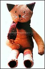 Cat Sewing Pattern Photocopy To Make a Pussy Kitty Feline Soft Toy or Decoration
