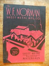 1936 NORMAN SHEET METAL CO CATALOG BUILDING MATERIALS TILE GUTTER SIDING AWNING