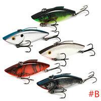 5pcs Swimbait Lures Fishing Bait Fish Lure Crankbait Hooks 7.3/6.3cm Tackle Box