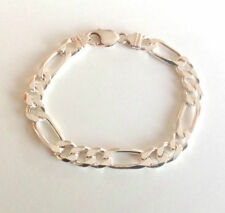 """Sterling Silver 9 9.49"""" Chain Fine Bracelets without Stones"""