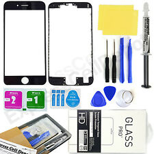 for Black Apple iPhone 7 Front Outer LCD Screen Glass Lens Replacement kit