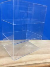 "Acrylic Lucite Countertop Display ShowCase  Cabinet 12"" x 9.5"" x 16""h 2 shelves"