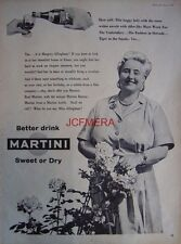 1957 Martini Drink AD 'Margery Allingham - Original Print ADVERT