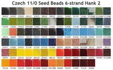 Czech 11/0 Rocaille Glass Seed Beads 6-strand Hank 2