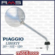 SPECCHIETTO DESTRO DX CROMATO PER PIAGGIO LIBERTY 50 125 150 MOC RST 2004 2010