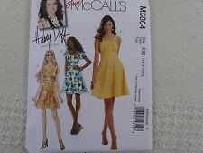 McCall's 5804 Hillary Duff SEXY lined dress Sewing Pattern size 4-6-8-10-12