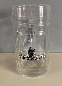 HOFMEISTER LAGER PINT CROWN STAMPED GLASS TANKARD