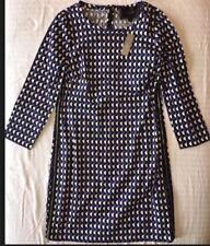 J Crew Dress 0 Petite 0P Geo-Print Shift dress NWT $138 c5617 Purple Black Ivory
