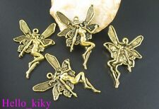 50 pcs Antiqued gold large Fairy charms 44x30mm A1802G