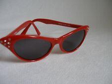 Novelties  Girl's Red Cat Eye Glasses with Rhinestones Trim UV400 Lens New