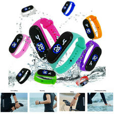 Silicone Band Digital Wrist Sport LED Watch For Kids Boy's Girls Men Women NEW