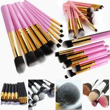 10Pcs Professional Makeup Brushes Tools Eyeshadows Face Lip Blush Brushes New US
