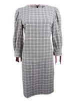 Jessica Howard Women's Plaid Tie-Sleeve Dress
