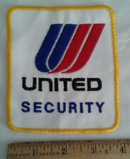 United Airlines Airport Security Police Patch Obsolete Uniform Take Off