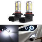 2x 9006 HB4 6000K White 5630 33 SMD LED 12V Auto Car Fog Light Bulbs Driving