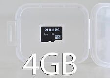 PHILIPS 4GB micro sd Scheda di Memoria Flash SDHC Classe 4 Camrea TEL TABLET