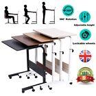 Adjustable Laptop Desk Mobile Computer Stand Bedside Portable Side Table Black