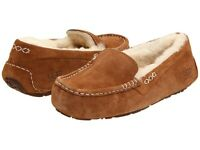 Women's Shoes UGG Ansley Moccasin Slippers 3312 Chestnut 5 6