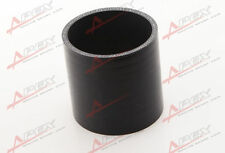 "3 PLY 3.5"" INCH STRAIGHT  HOSE 70MM TURBO SILICONE COUPLER PIPE BLACK"