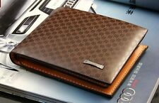 Brown Men Leather Wallet Cards Clutch Holder Pockets Bifold Purse 007