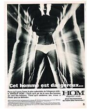 PUBLICITE  1968  HOM  slip homme sous vetements