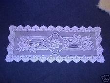 "Lovely quality lace runner 54"" long White"