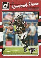 2016 DONRUSS Football #19 WARRICK DUNN Atlanta FALCONS CARD