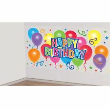 5.4ft General Happy Birthday Scene Setters Room Party Back Drop Surprise Balloon